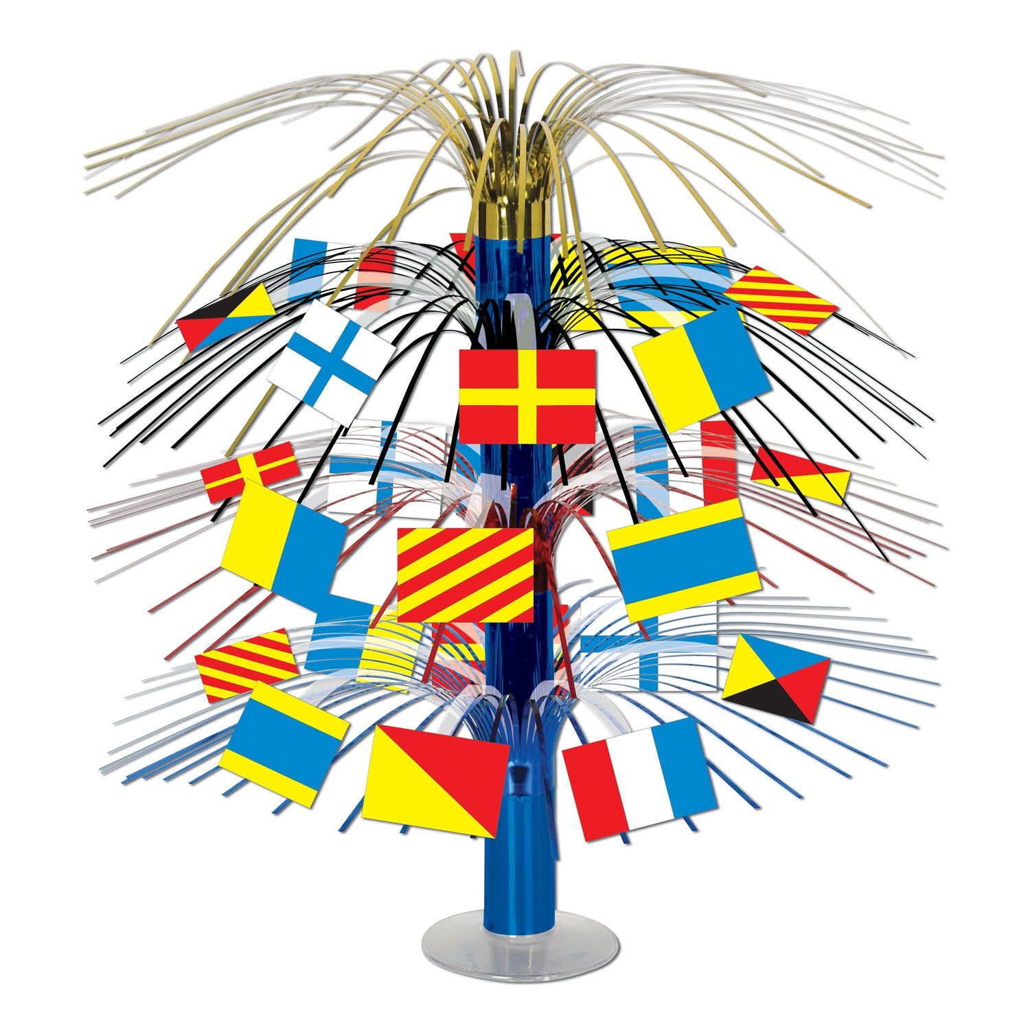 Nautical Flag Cascade Centerpiece by Beistle - Nautical Theme Decorations