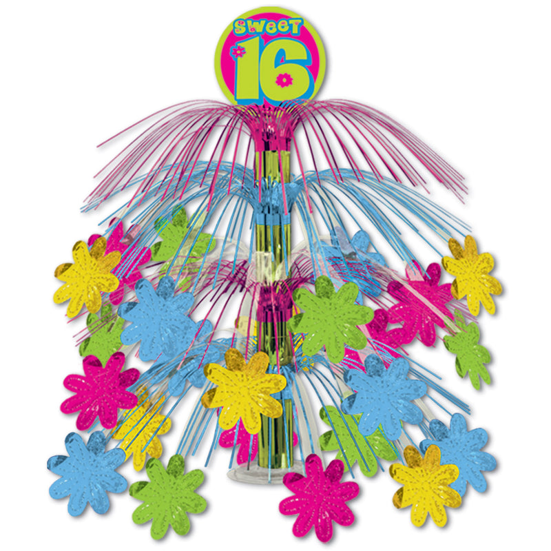 Sweet 16 Cascade Centerpiece by Beistle - Sweet 16 Birthday Decorations