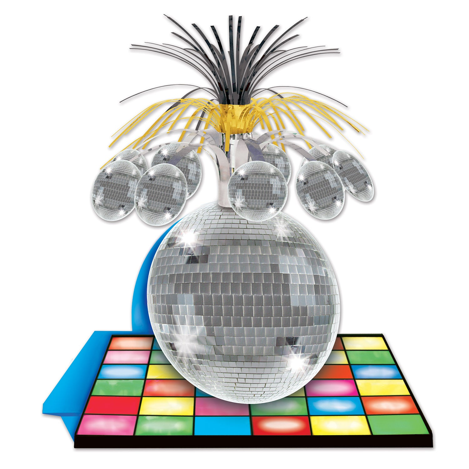 Disco Ball Centerpiece by Beistle - 70's Theme Decorations