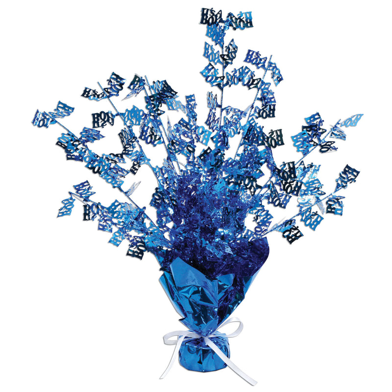 It's A Boy! Gleam 'N Burst Centerpiece by Beistle - Baby Shower Theme Decorations
