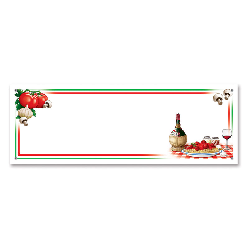 Italian Night Sign Banner by Beistle - Italian Theme Decorations