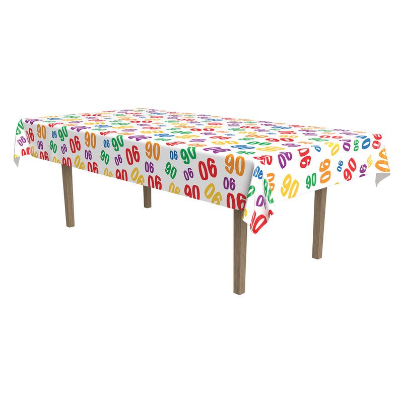 90 Tablecover by Beistle - 90th Birthday Party Decorations