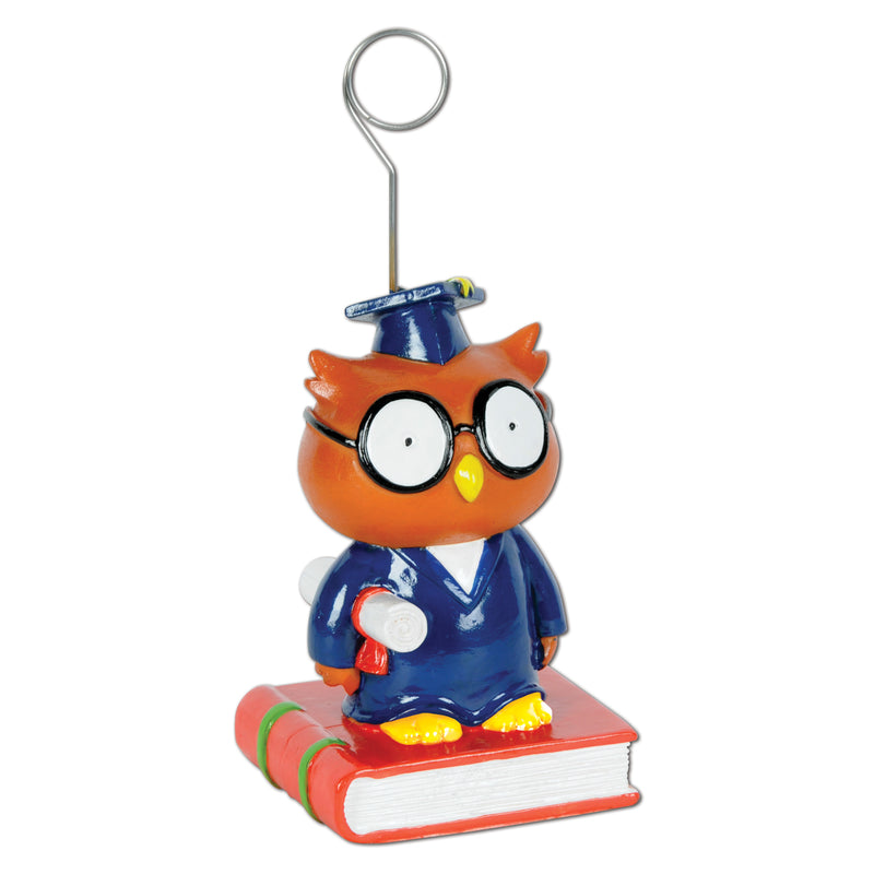 Owl Graduate Photo/Balloon Holder by Beistle - Graduation Theme Decorations