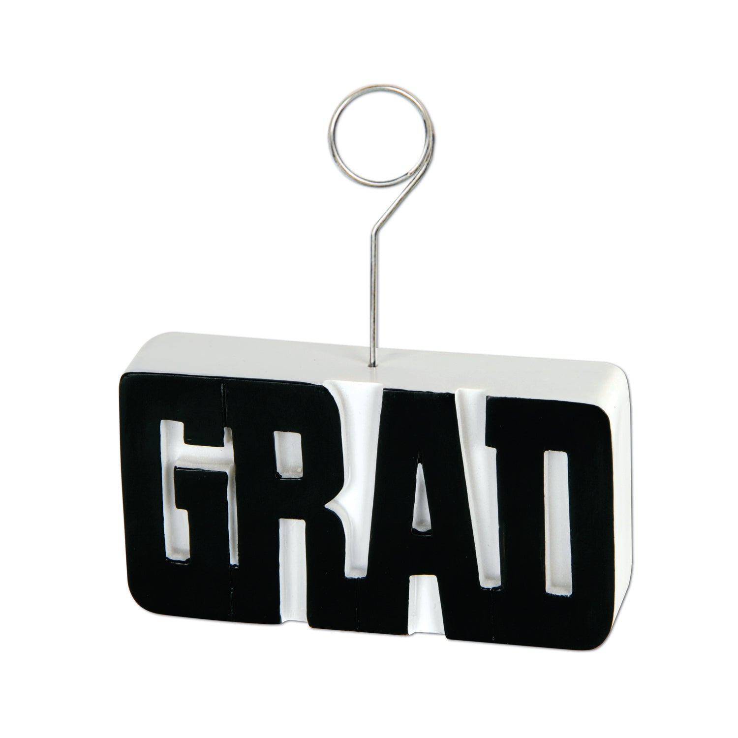 Grad Photo/Balloon Holder, black by Beistle - Graduation Theme Decorations