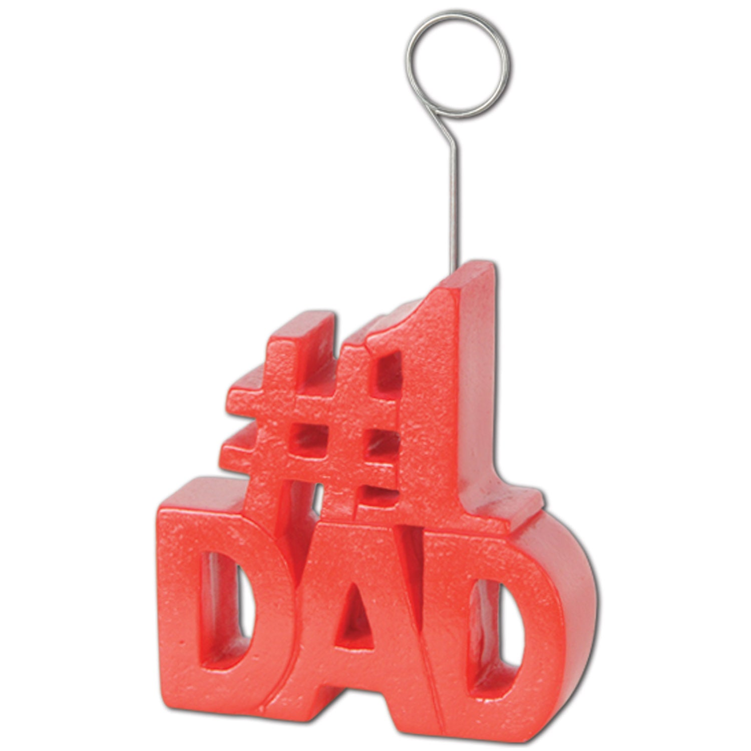 #1 Dad Photo/Balloon Holder by Beistle - Father's Day Theme Decorations
