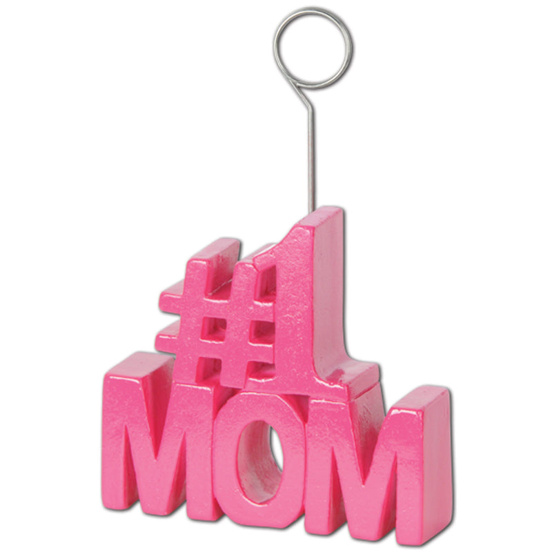 #1 Mom Photo/Balloon Holder by Beistle - Mother's Day Theme Decorations