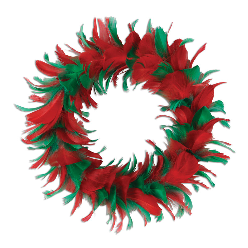 Fancy Wreath, red & green by Beistle - Winter and Christmas Theme Decorations