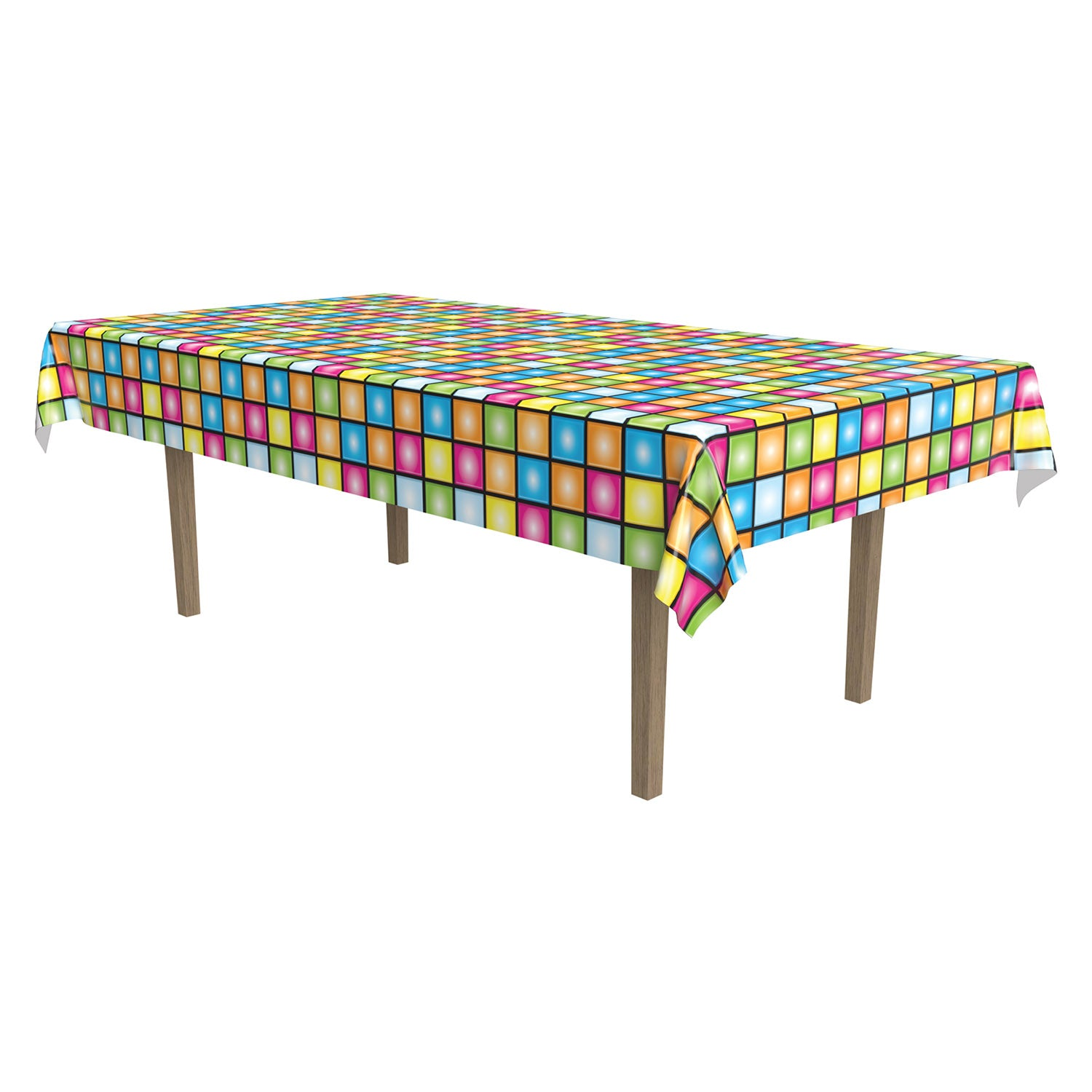 Disco Tablecover by Beistle - 70's Theme Decorations