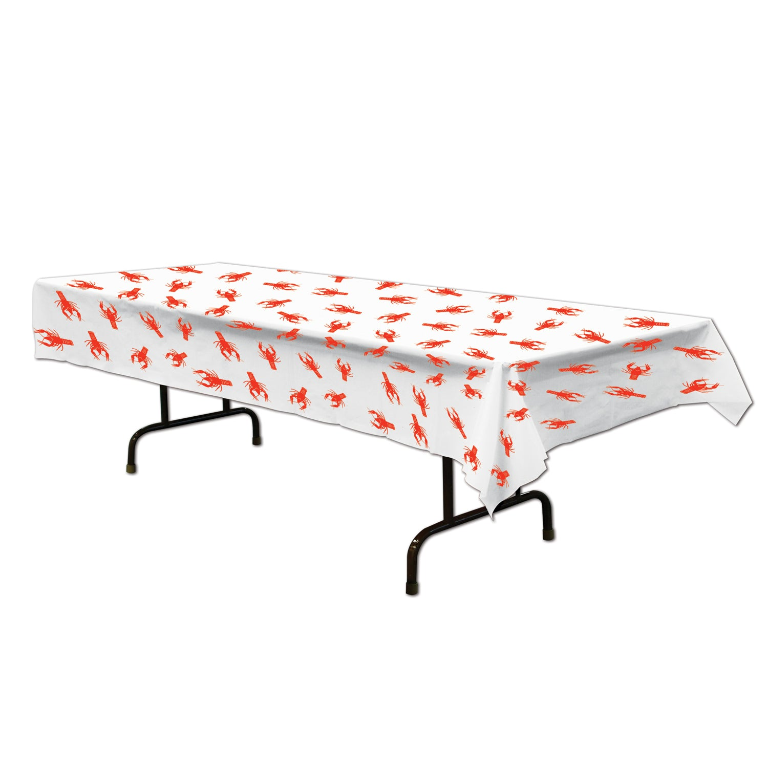 Crawfish Tablecover by Beistle - Mardi Gras Theme Decorations