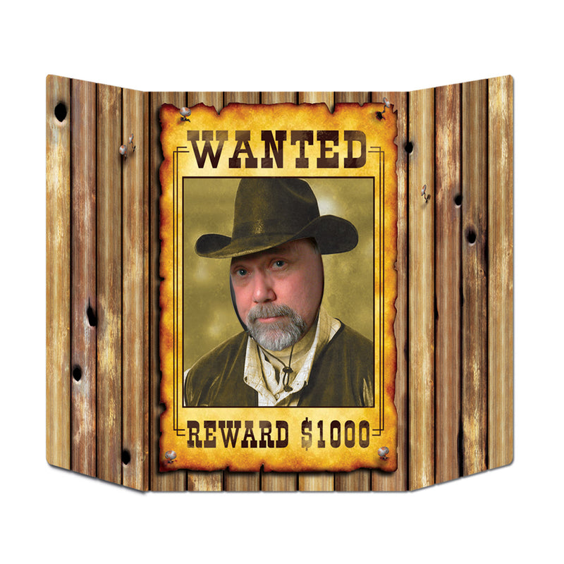 Wanted Poster Photo Prop by Beistle - Western Theme Decorations