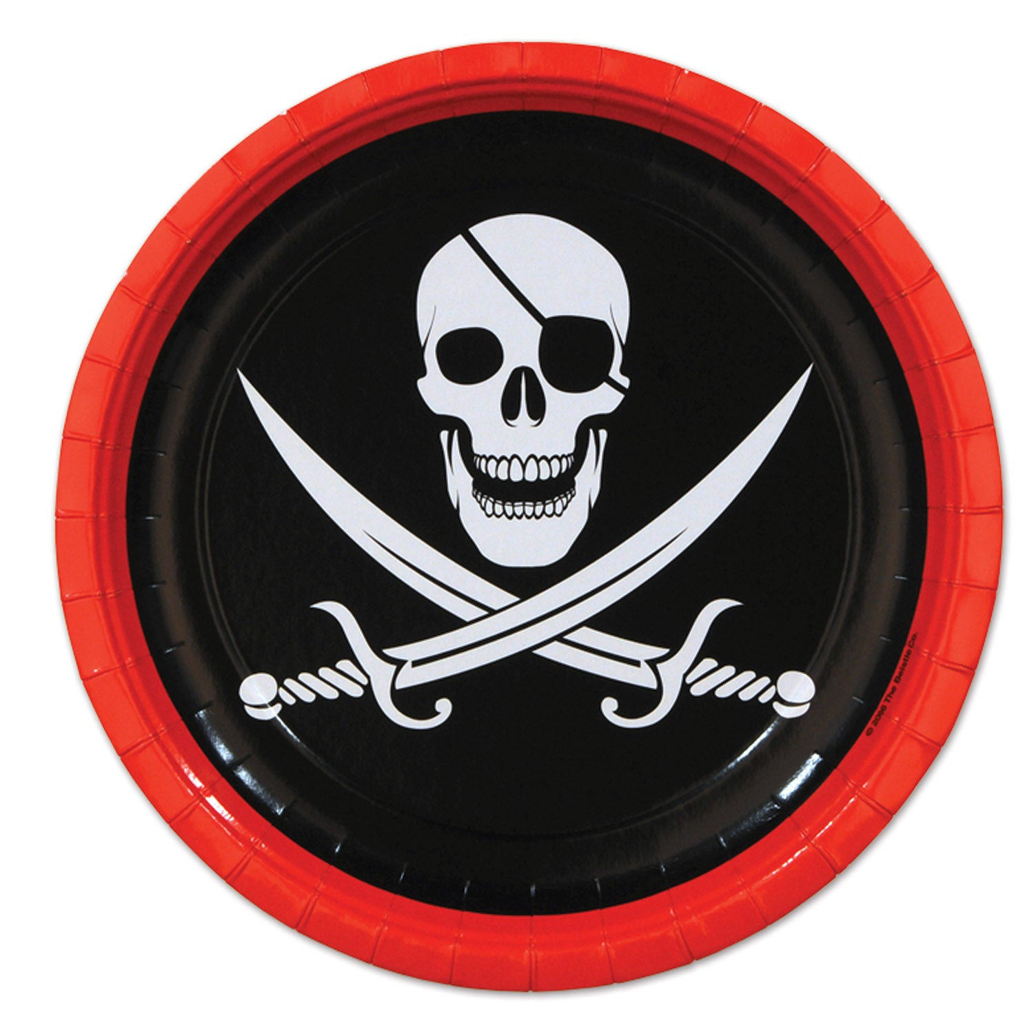 Pirate Plates (8/Pkg) by Beistle - Pirate Theme Decorations