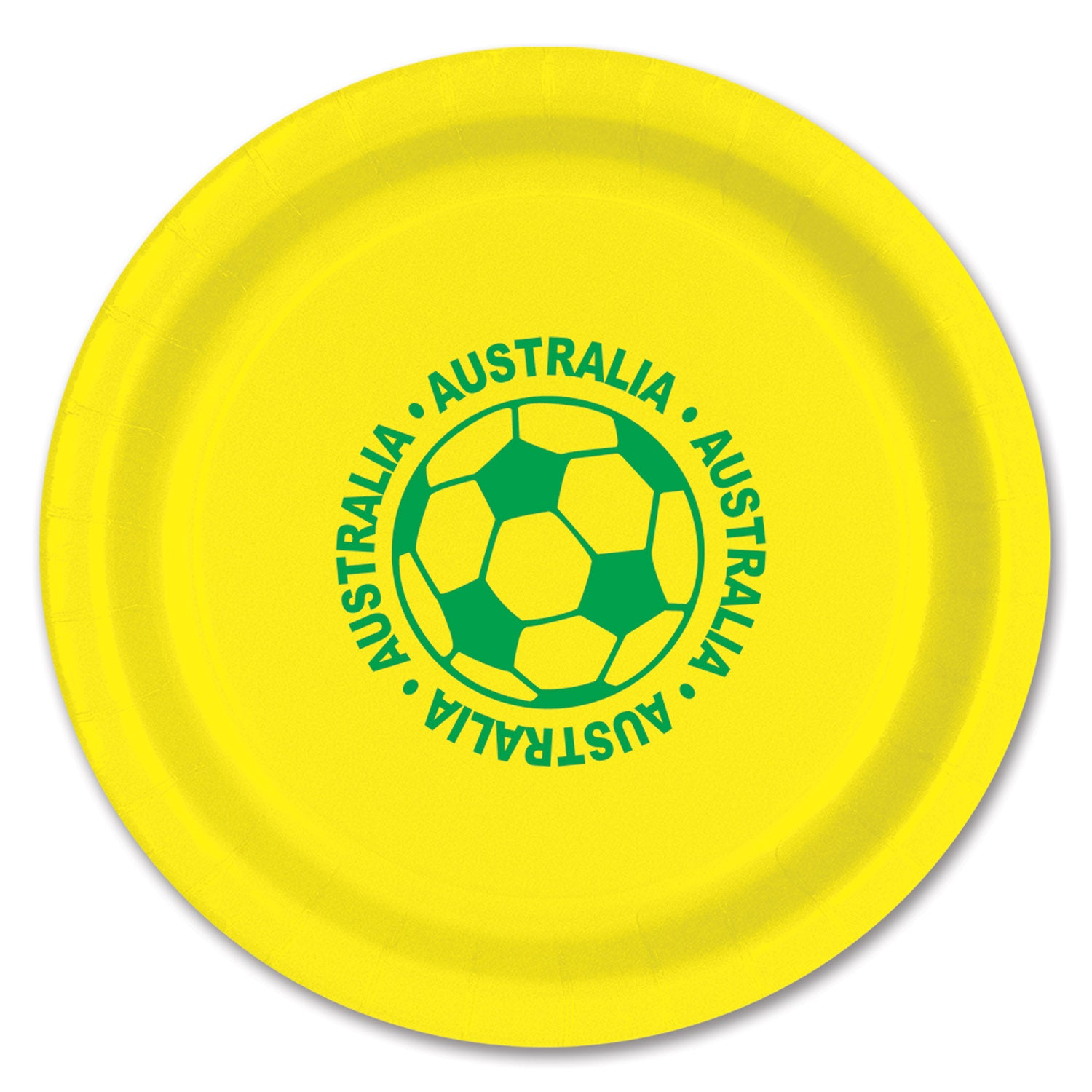 Plates - Australia (8/Pkg) by Beistle - Soccer Theme Decorations