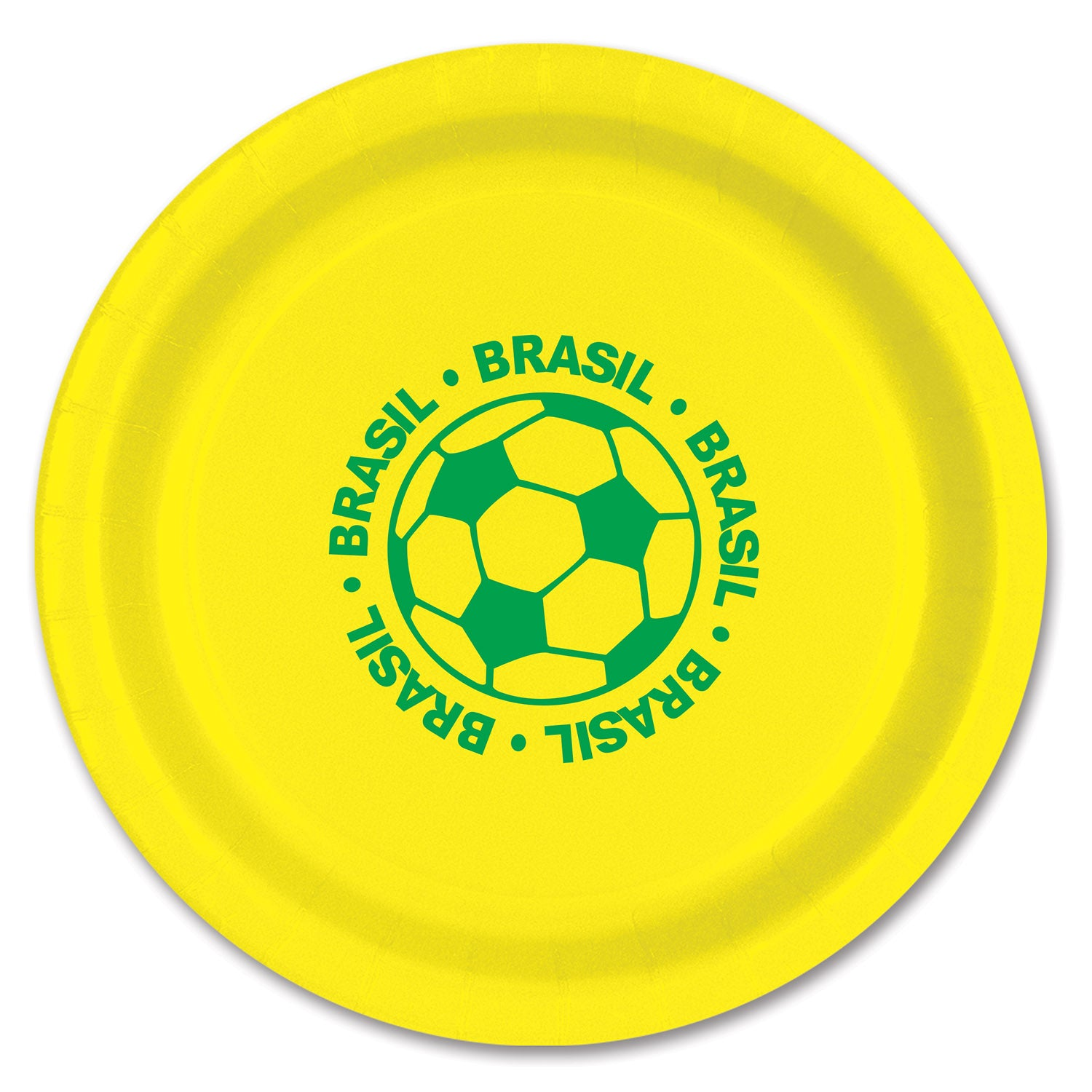 Plates - Brasil (8/Pkg) by Beistle - Soccer Theme Decorations