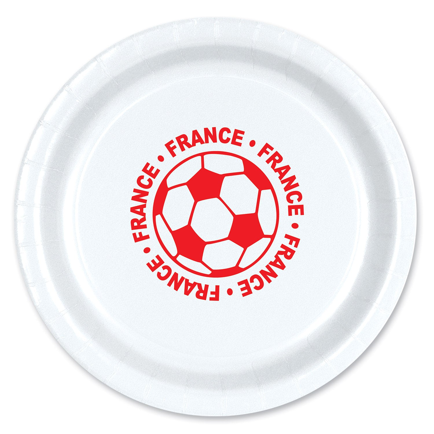 Plates - France (8/Pkg) by Beistle - Soccer Theme Decorations