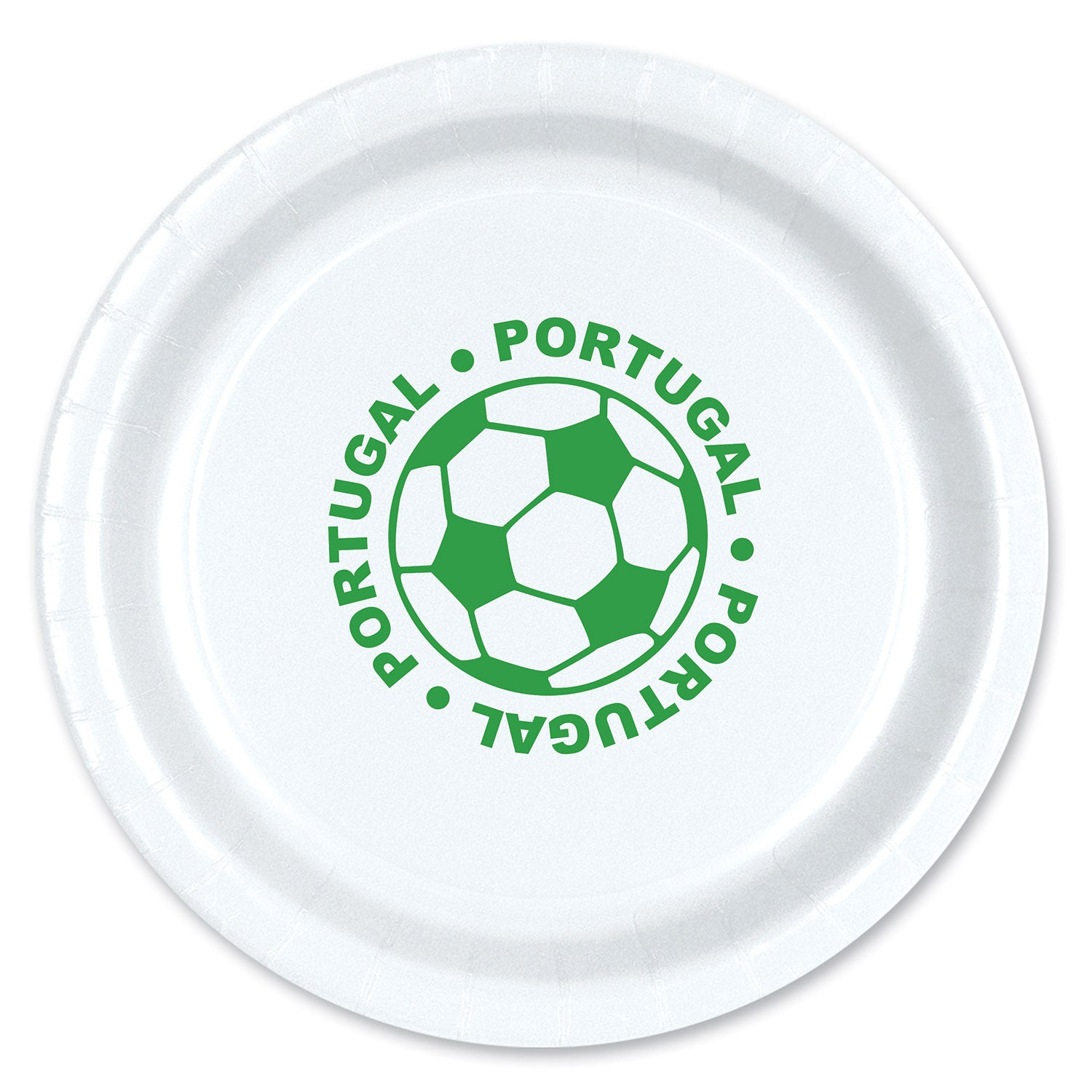 Plates - Portugal (8/Pkg) by Beistle - Soccer Theme Decorations