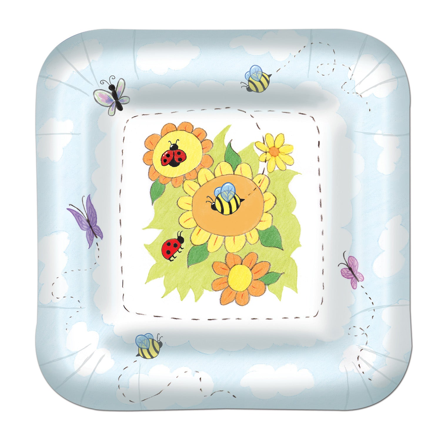Garden Plates (8/Pkg) by Beistle - Baby Shower Theme Decorations