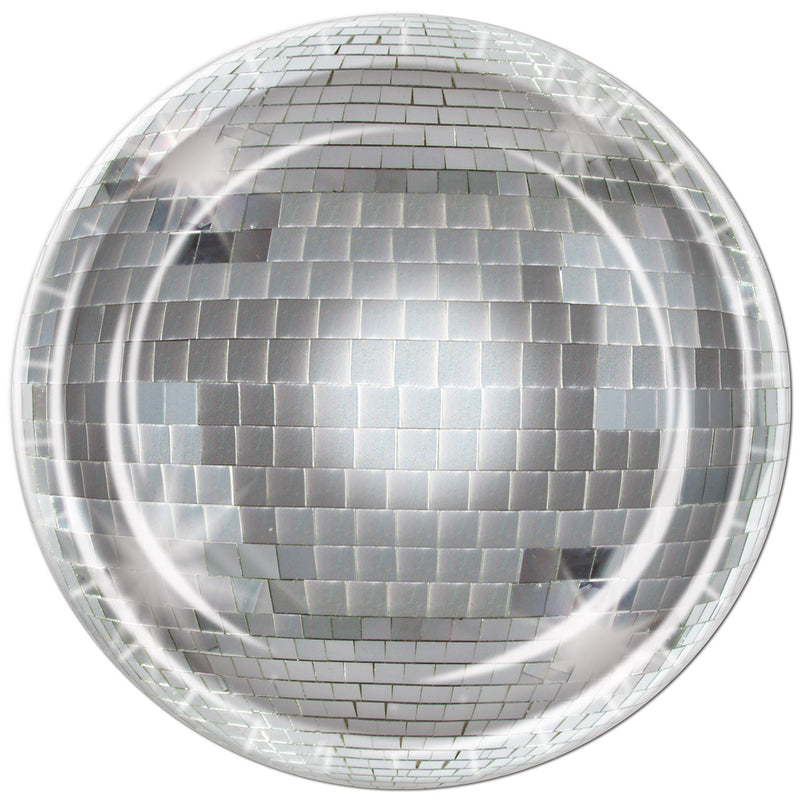 Disco Ball Plates (8/Pkg) by Beistle - 70's Theme Decorations