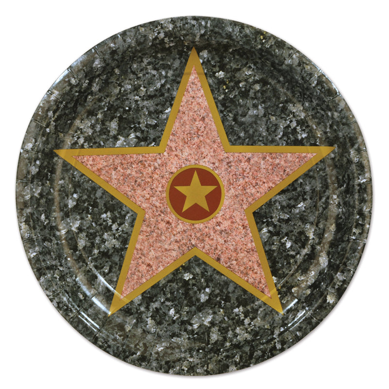 Star Plates (8/Pkg) 9 inch by Beistle - Awards Night Theme Decorations
