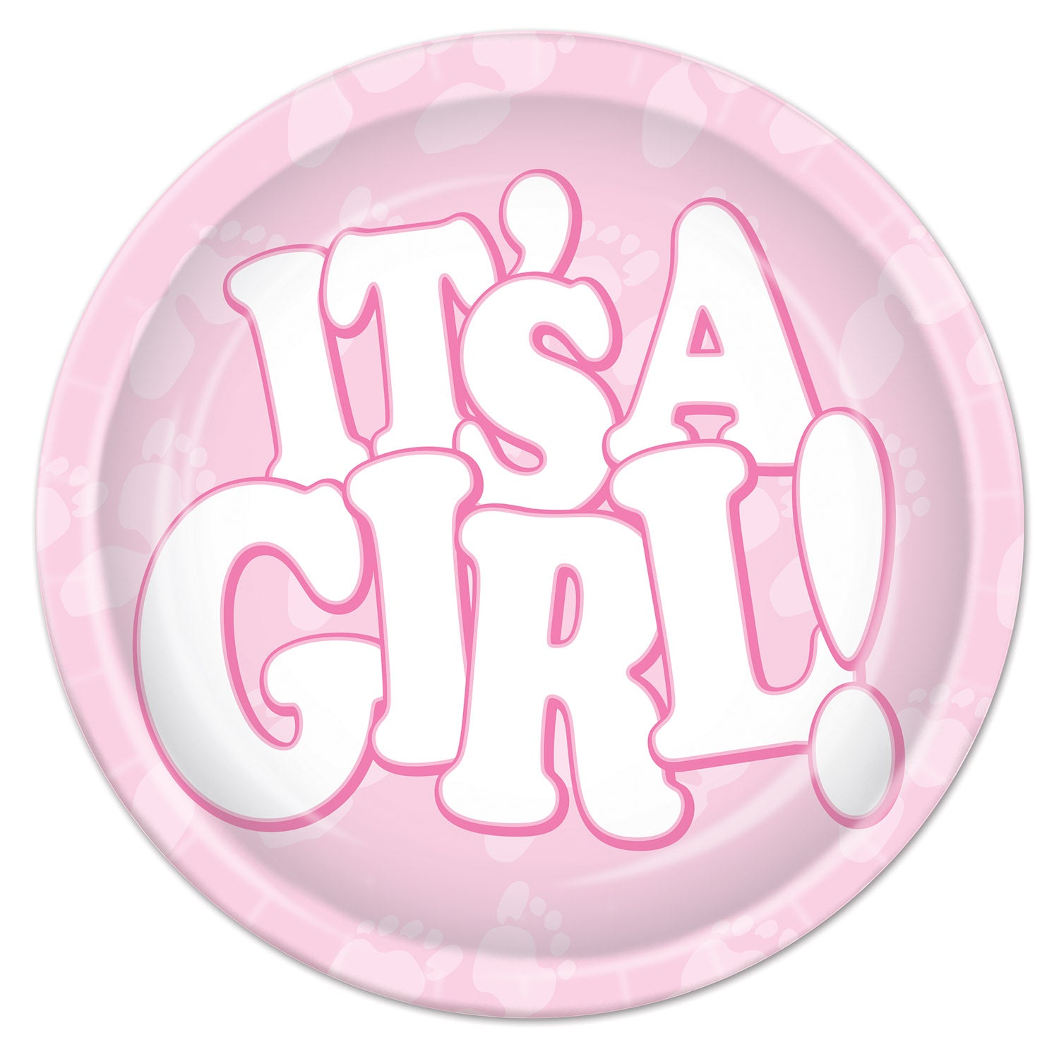 It's A Girl! Plates (8/Pkg) by Beistle - Baby Shower Theme Decorations