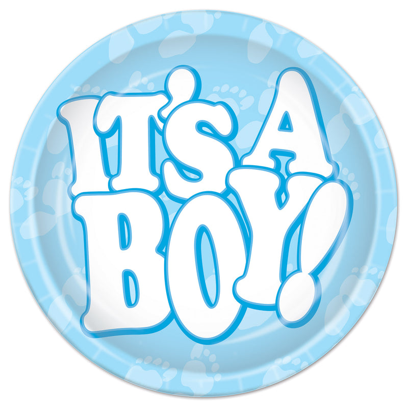 It's A Boy! Plates (8/Pkg) by Beistle - Baby Shower Theme Decorations