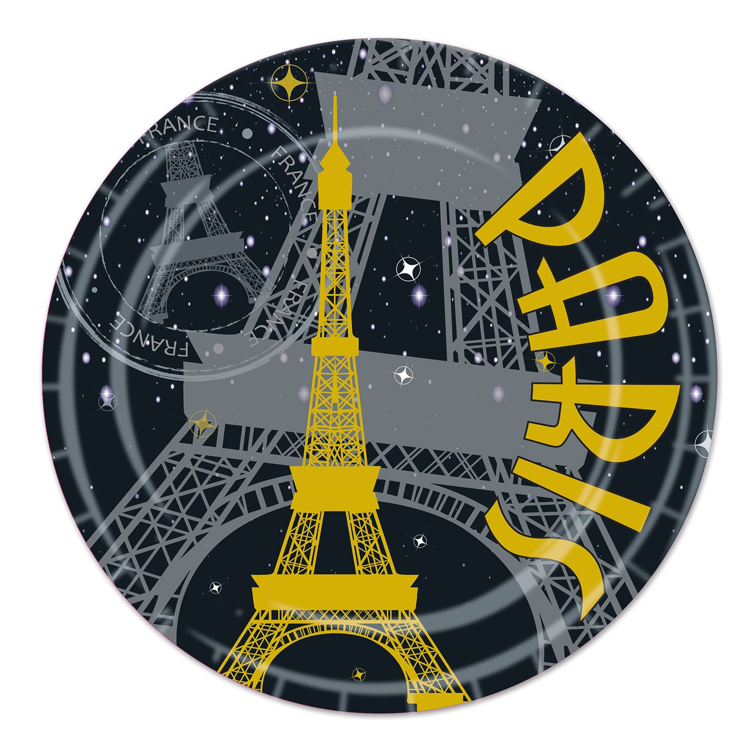 Paris Plates (8/Pkg) by Beistle - French Theme Decorations