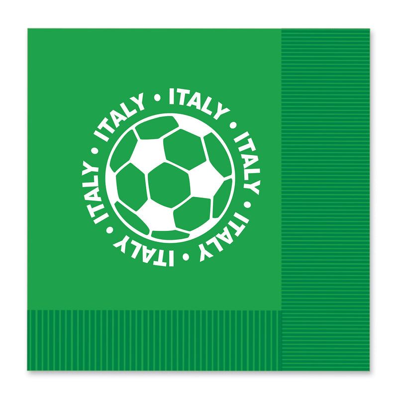 Luncheon Napkins - Italy (16/Pkg) by Beistle - Soccer Theme Decorations