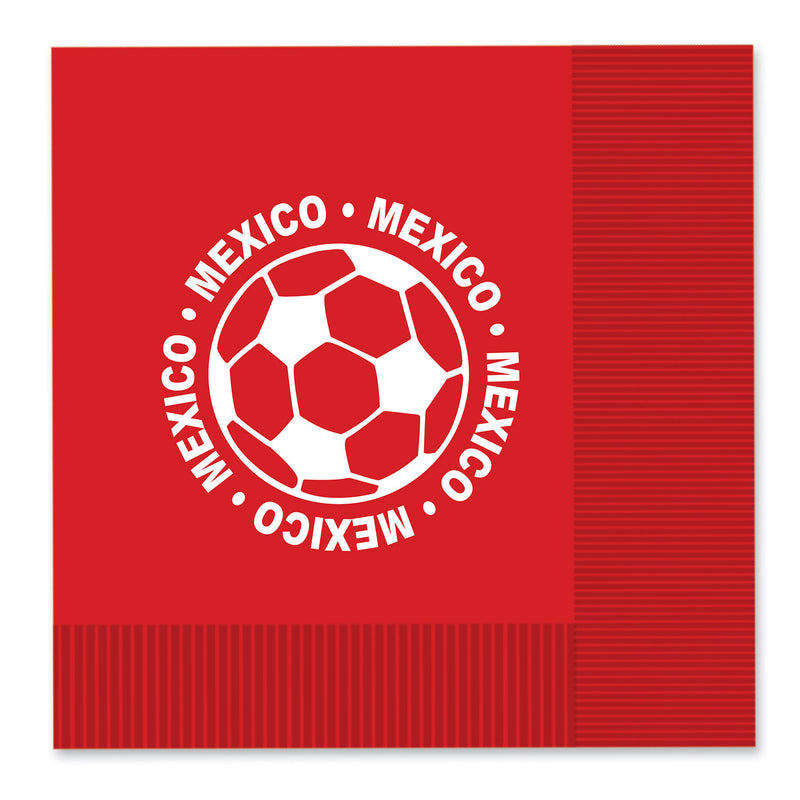 Luncheon Napkins - Mexico (16/Pkg) by Beistle - Soccer Theme Decorations