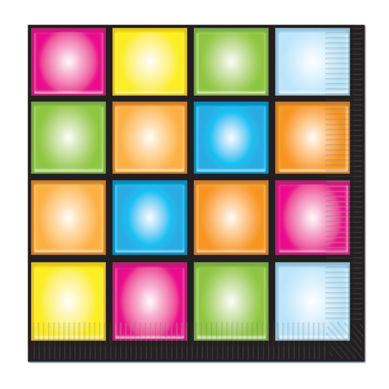 Disco Luncheon Napkins (16/Pkg) by Beistle - 70's Theme Decorations
