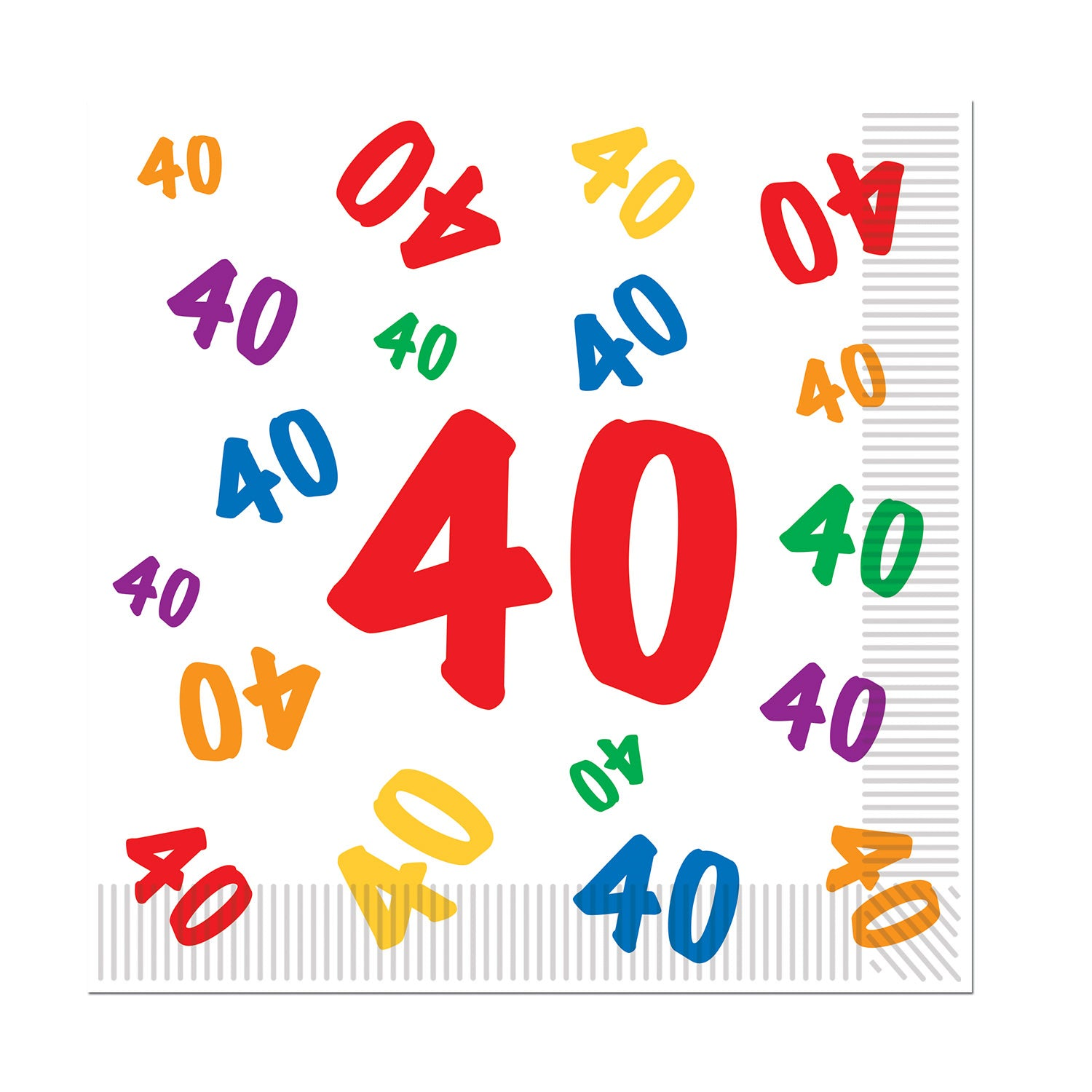 40 Luncheon Napkins (16/Pkg) by Beistle - 40th Birthday Party Decorations