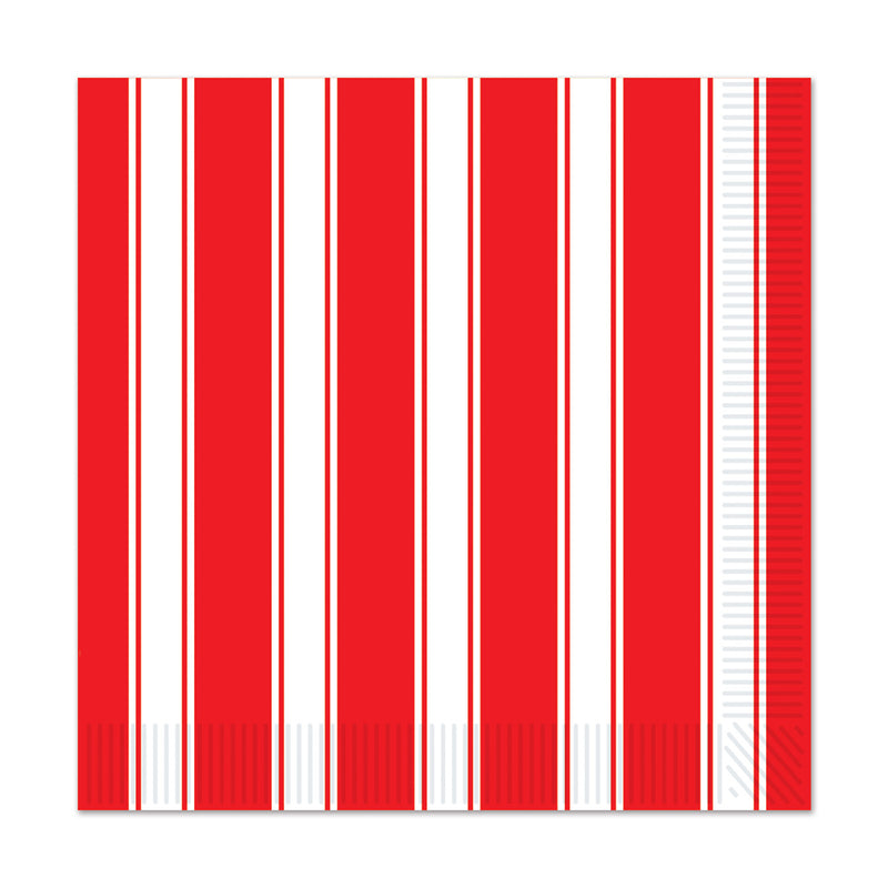 Red & White Stripes Luncheon Napkins (16/Pkg) by Beistle - Circus Theme Decorations