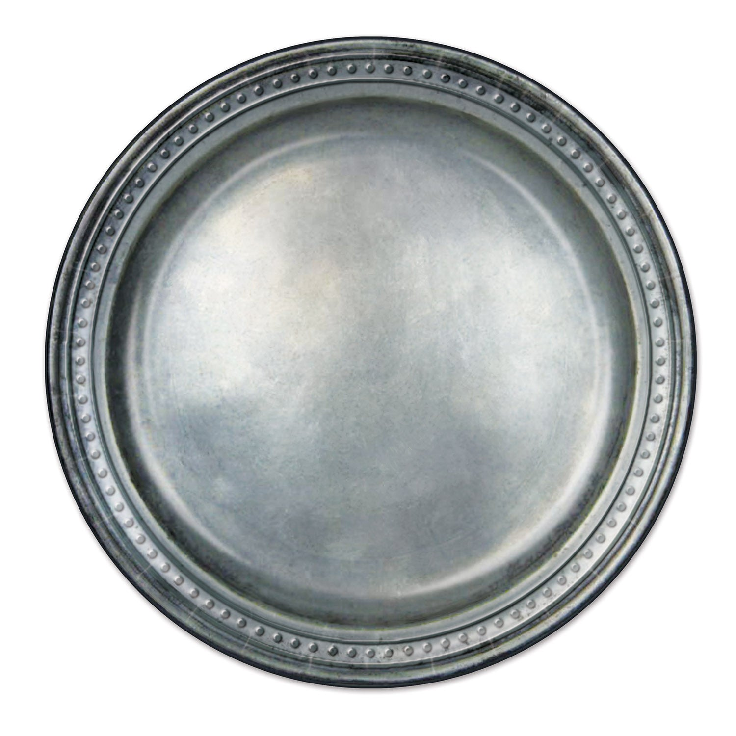 Pewter Paper Plates (8/Pkg) by Beistle - Medieval Theme Decorations