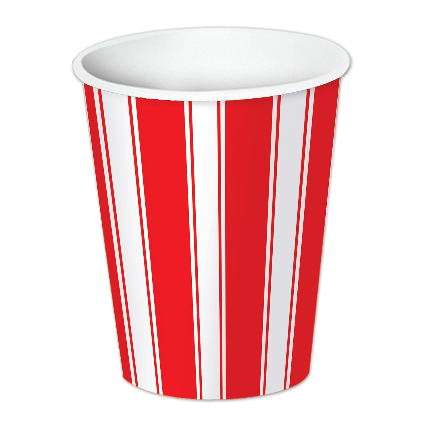 Red & White Stripes Beverage Cups (8/Pkg) by Beistle - Circus Theme Decorations