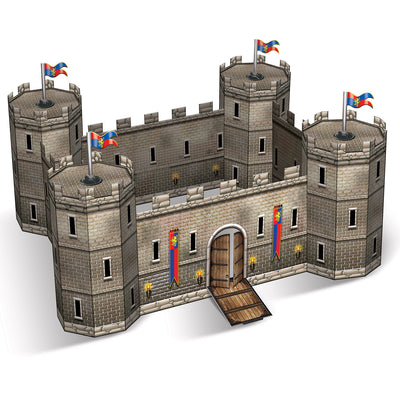 3-D Castle Centerpiece by Beistle - Medieval Theme Decorations