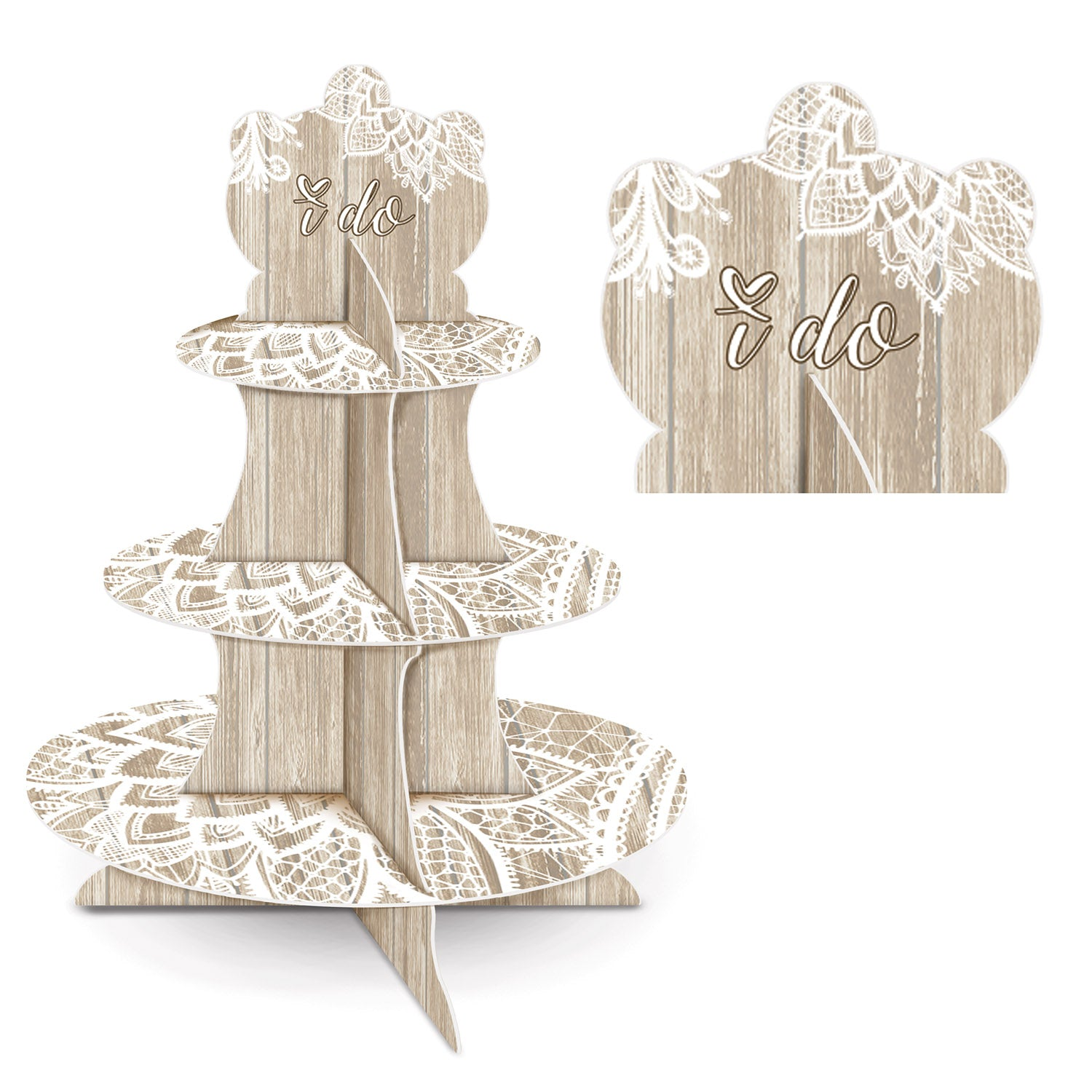 Wedding Cupcake Stand by Beistle - Wedding Theme Decorations