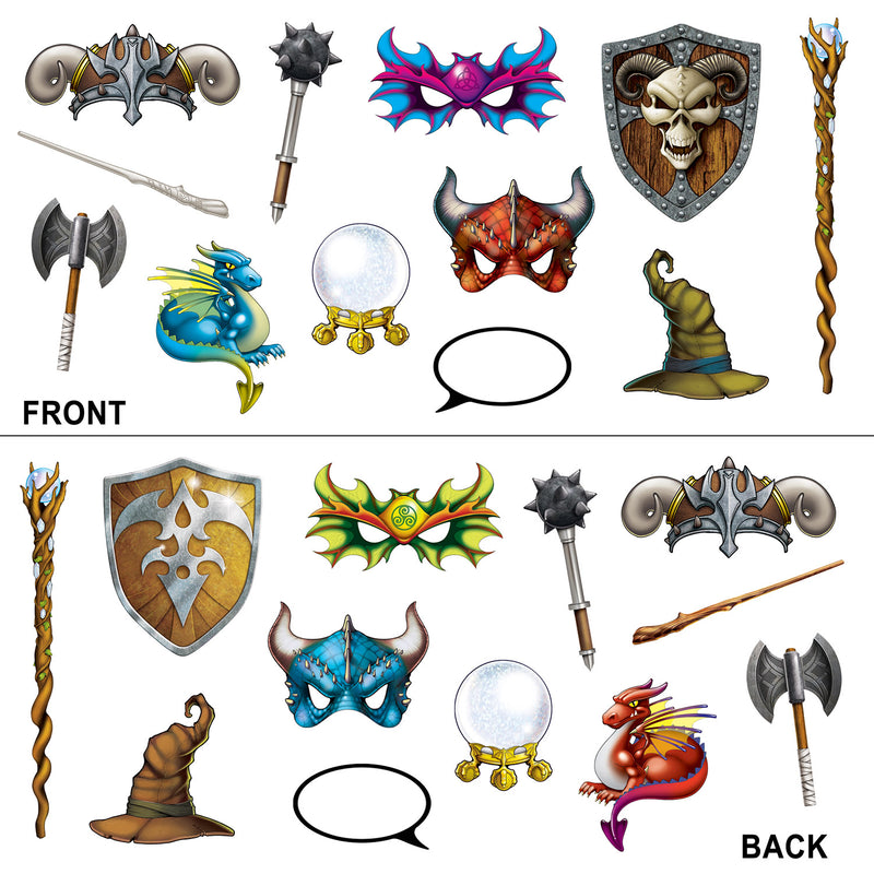 Fantasy Photo Fun Signs (12/Pkg) by Beistle - Fantasy Theme Decorations