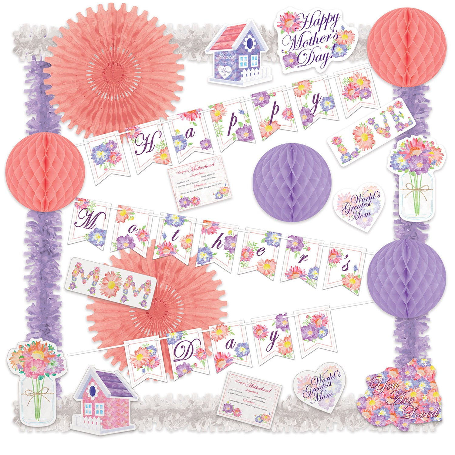 Mother's Day Decorating Kit by Beistle - Mother's Day Theme Decorations