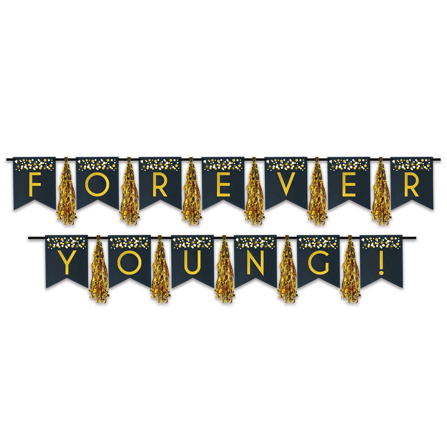 Forever Young! Tassel Streamer (2/Pkg) by Beistle - Over-The-Hill Theme Decorations