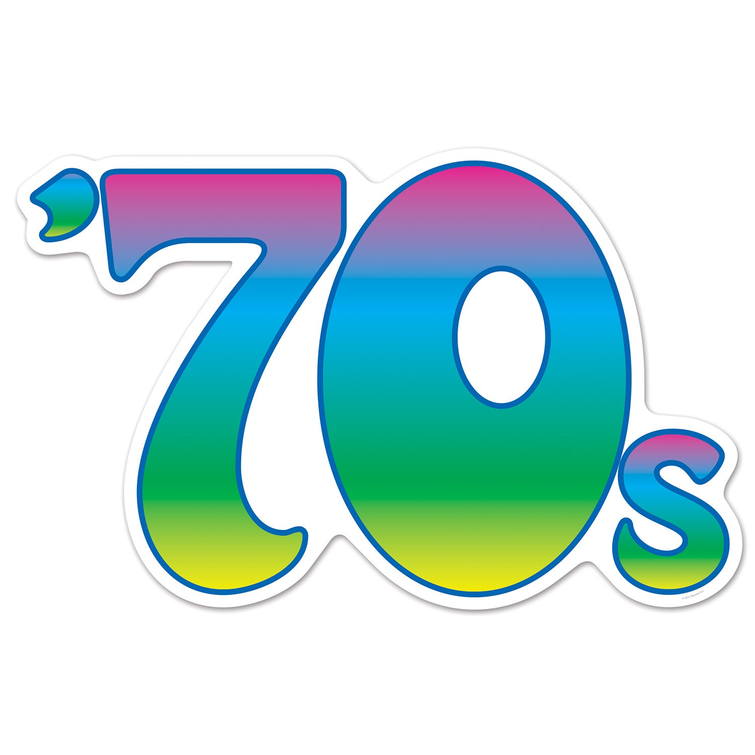 70's Cutout by Beistle - 70's Theme Decorations