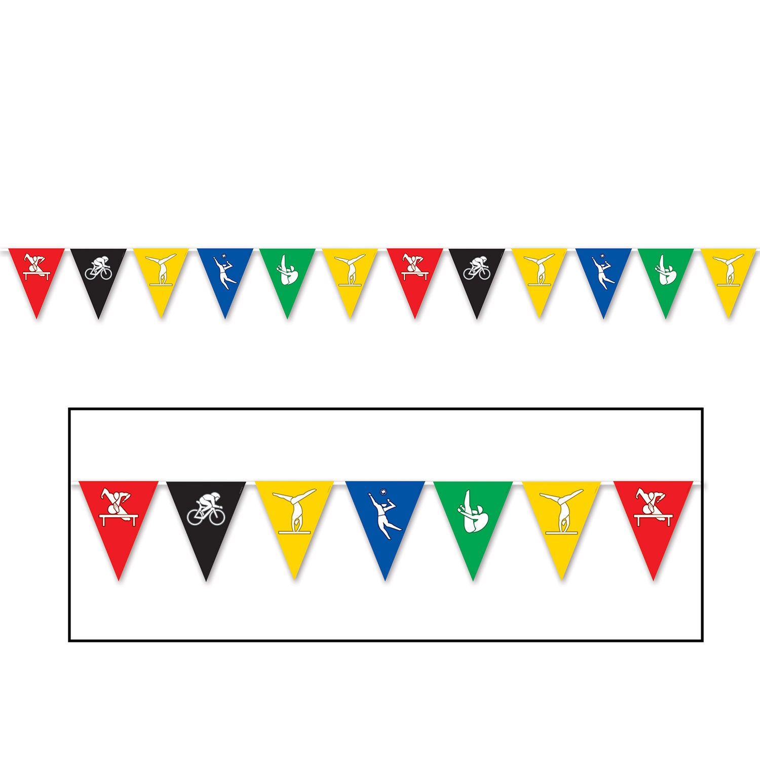 Summer Sports Pennant Banner by Beistle - Sports Theme Decorations