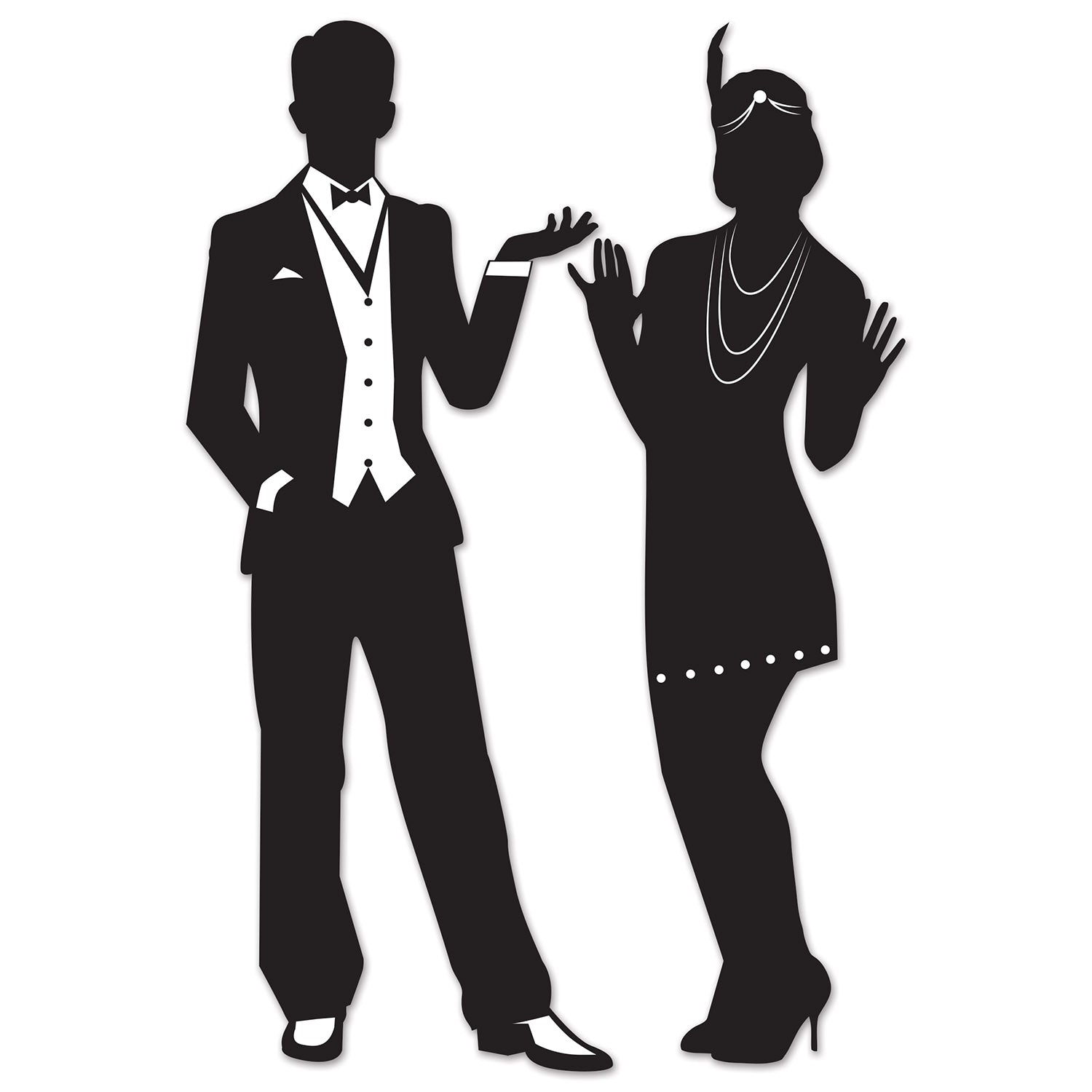 Great 20's Silhouettes (2/Pkg) by Beistle - 20's Theme Decorations
