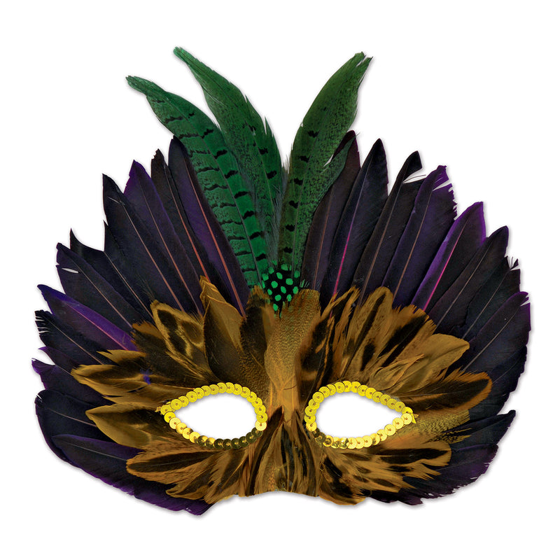 Mardi Gras Mask by Beistle - Mardi Gras Theme Decorations