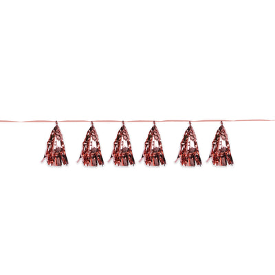 Metallic Tassel Garland, rose gold by Beistle - General Occasion Decorations