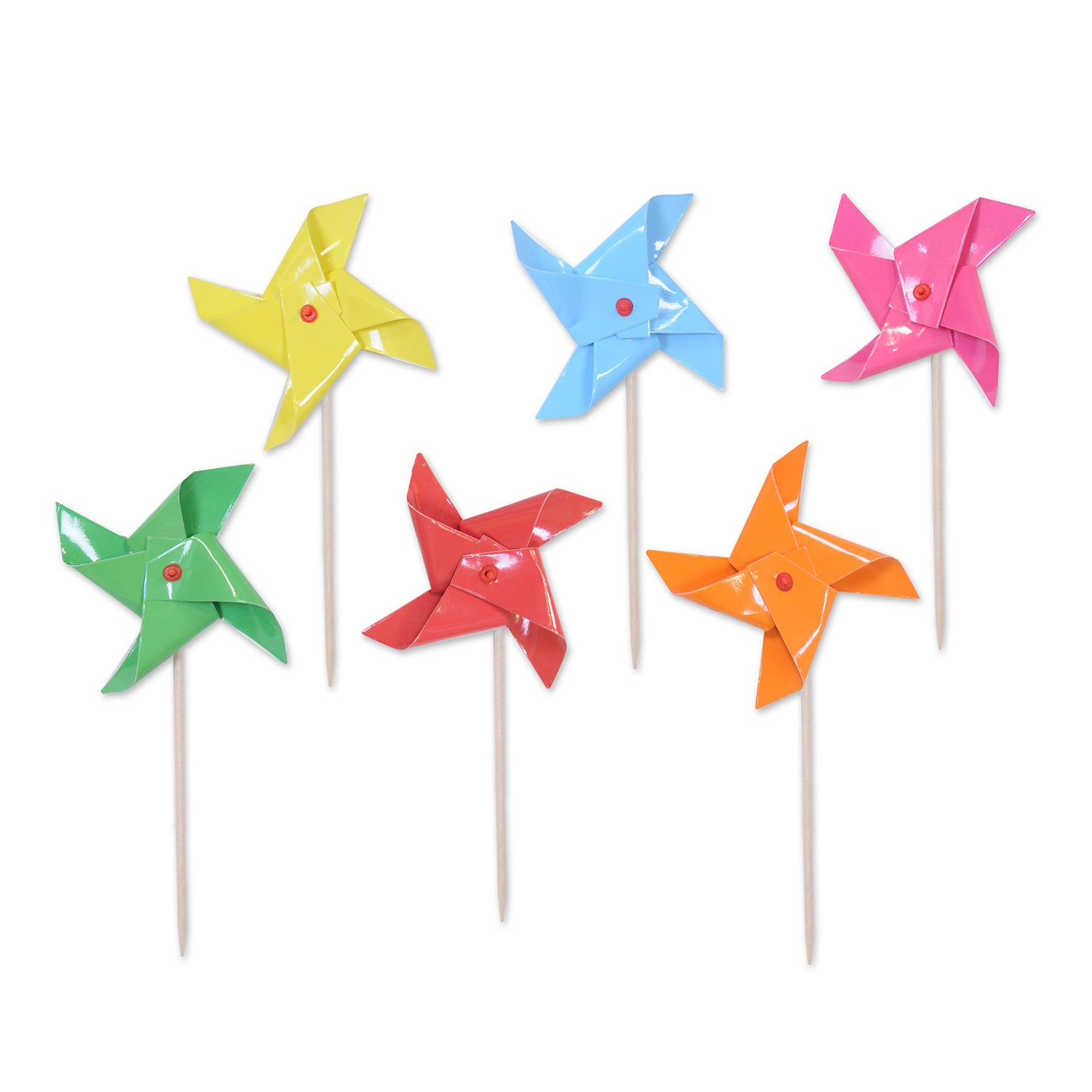 Pinwheel Picks (24/Pkg) by Beistle - Spring/Summer Theme Decorations