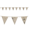 French Fabric Pennant Banner by Beistle - French Theme Decorations
