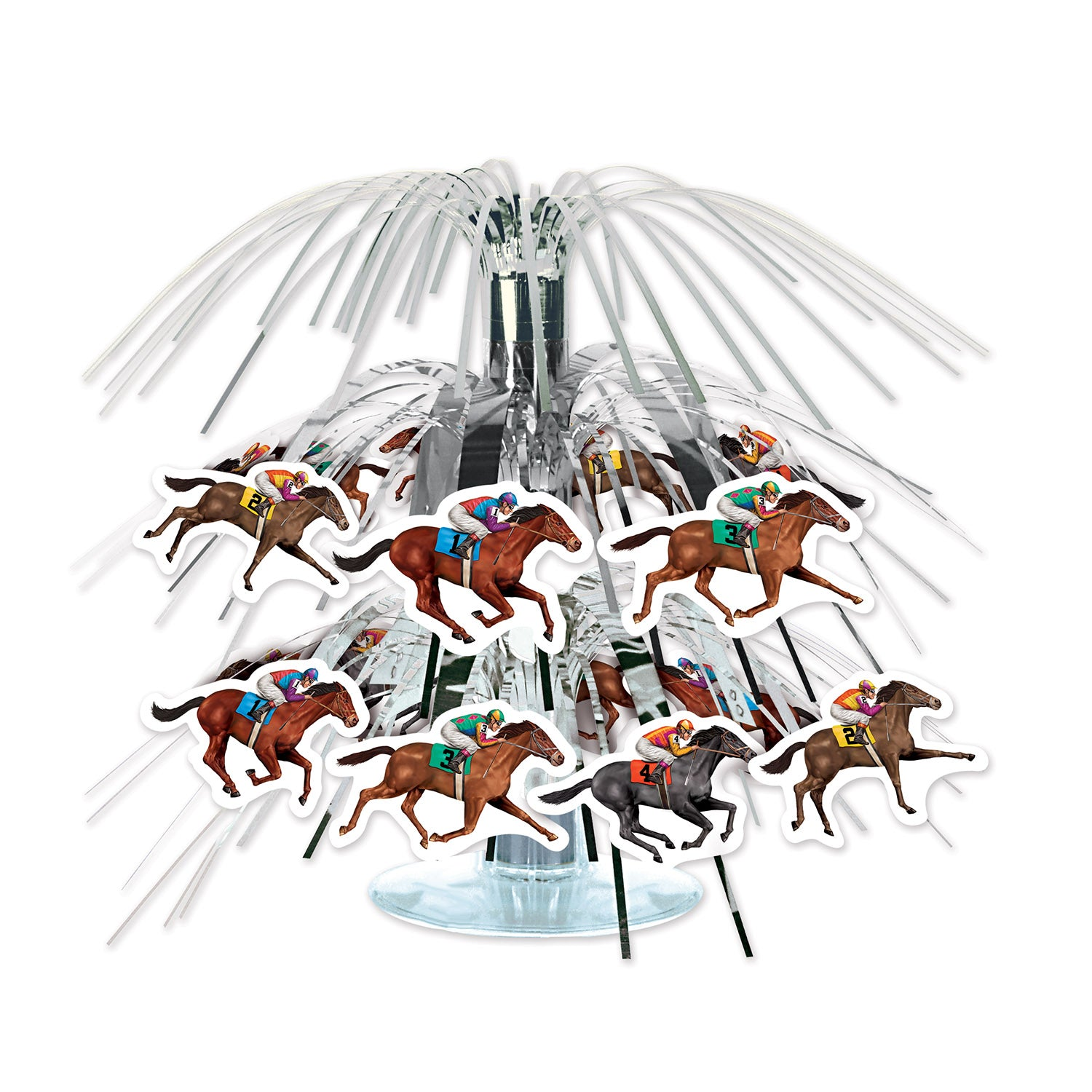Horse Racing Mini Cascade Centerpiece by Beistle - Derby Day Theme Decorations