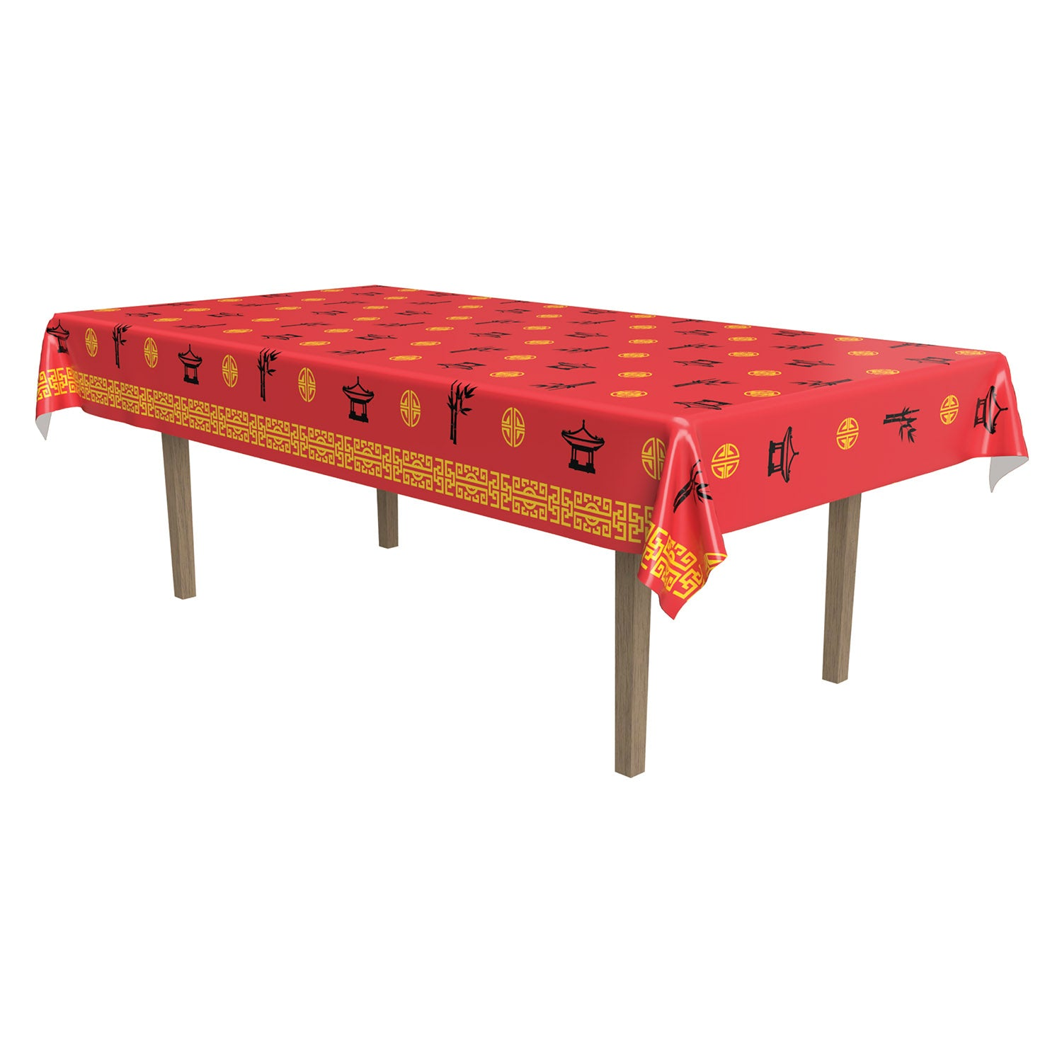 Asian Tablecover by Beistle - Asian Theme Decorations