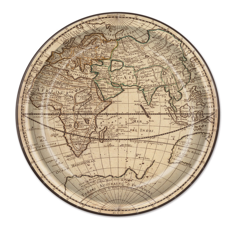 Around The World Plates (8/Pkg) by Beistle - Around The World Theme Decorations