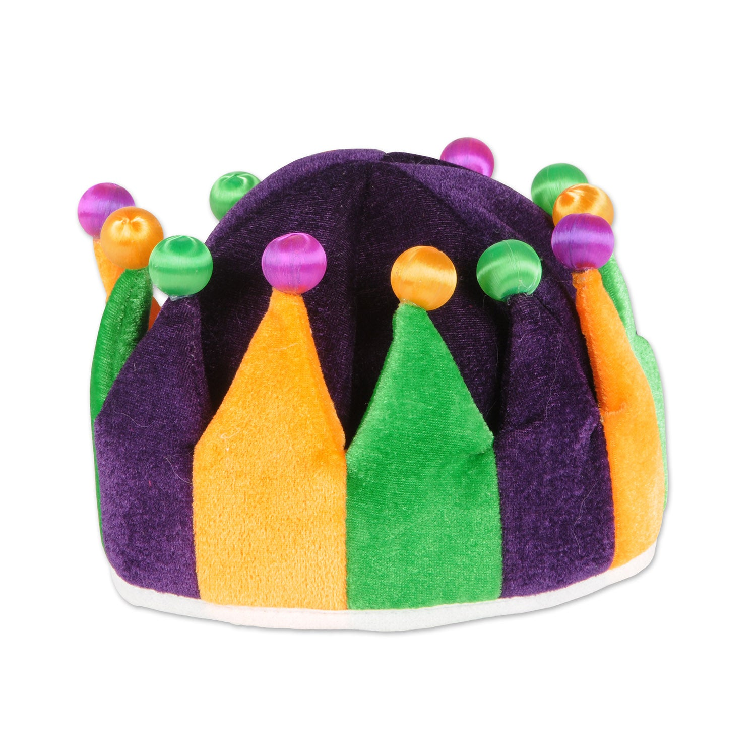 Plush Jester Crown by Beistle - Mardi Gras Theme Decorations