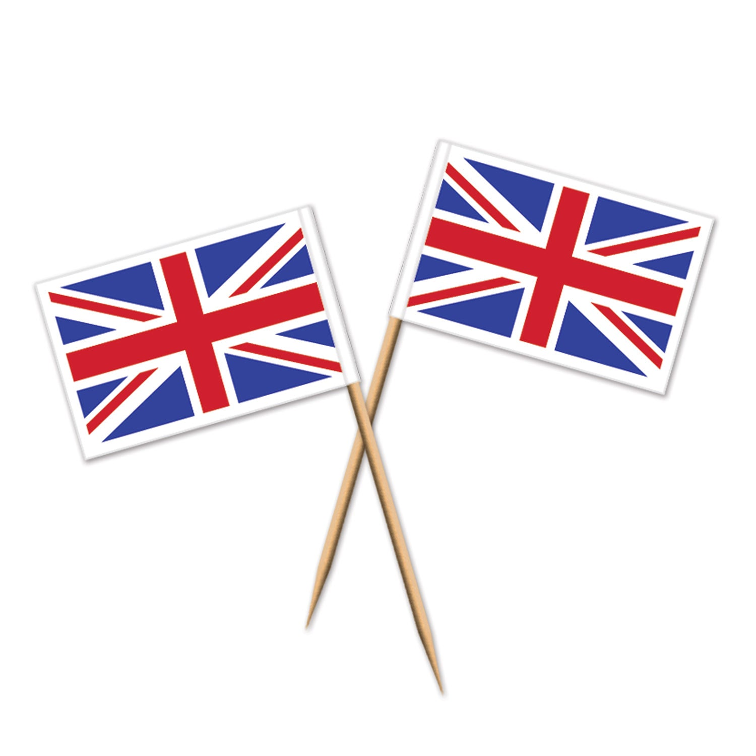 Union Jack Picks (50/Pkg) by Beistle - British Theme Decorations