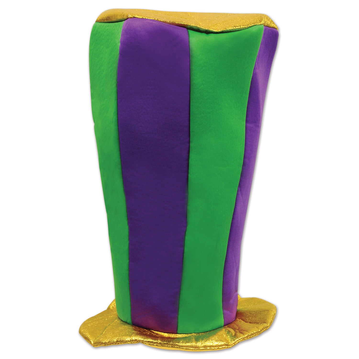 Mardi Gras Plush Tall Top Hat by Beistle - Mardi Gras Theme Decorations